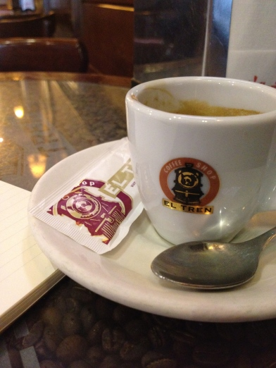 First memorable cafe solo in Granada; El Tren